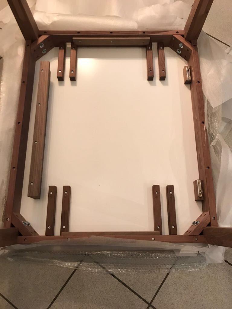 Tisch nach Maß mit Ansteckplatte
