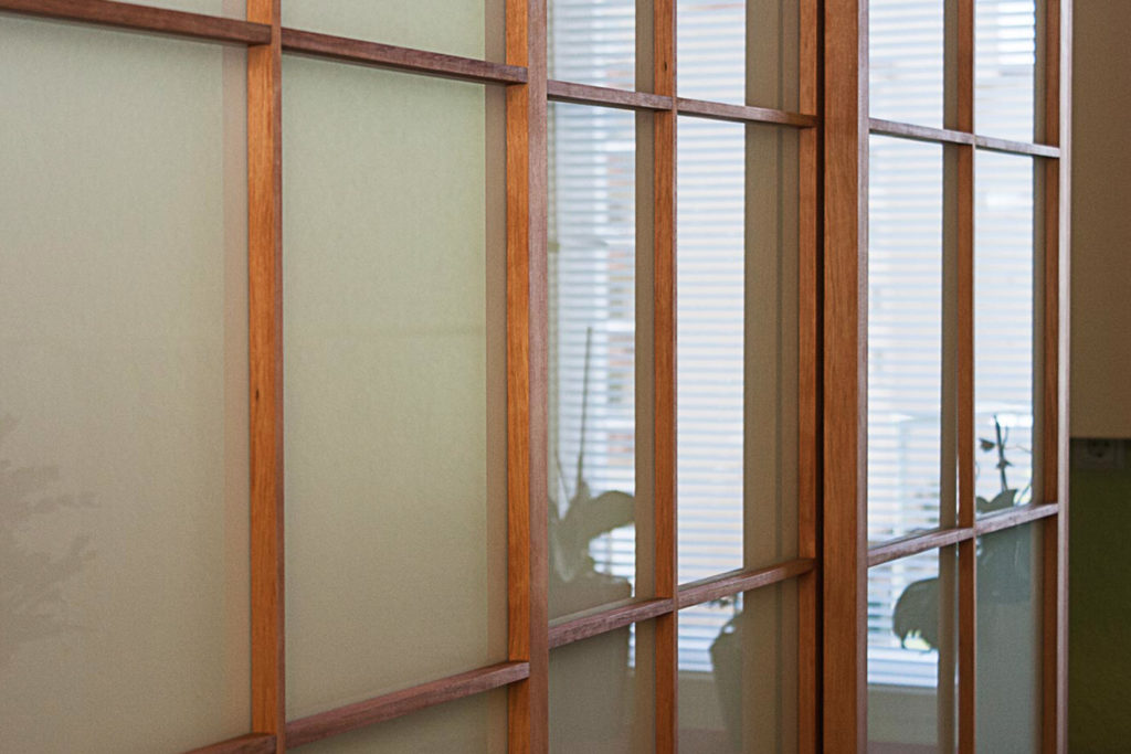 Shoji-Türen mit Glasfüllungen